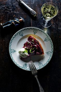 Caramelized beetroot tarte tatin