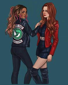 Cheryl Blossom and Toni Topaz (Riverdale) Cheryl Blossom Riverdale, Riverdale Cheryl, Riverdale Cw, Riverdale Aesthetic, Riverdale Funny, Riverdale Memes, Best Friend Drawings, Bff Drawings, Riverdale Wallpaper Iphone