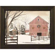 Billy Jacobs print.  The Christmas Barn