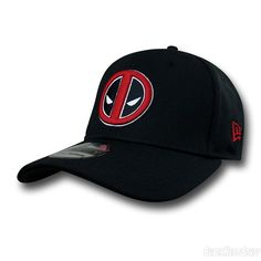 Deadpool NEW ERA Hat Deadpool Symbol 39Thirty Cap Deadpool Hat 023fab4d78b0
