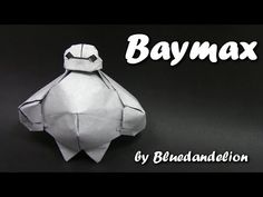 Origami Baymax by Bluedandelion (Part 1 of 2 ) - Yakomoga Origami tutorial - YouTube