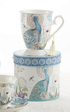 Gift Boxed Mug in hat box. Beautiful porcelain mug arrives in matching hat box perfect for gifting and events. Holds 11 oz.