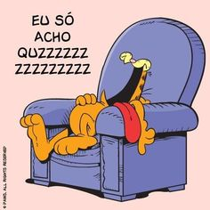 Quando você tem que falar em uma reunião no trabalho segunda de manhã. | 12 reações do Garfield que poderiam facilmente ter vindo de você