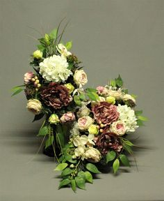 Dekoracja nagrobna komplet, bukiet+wiązanka My Flower, Flowers, Funeral, Gel Nails, Flower Arrangements, Diy And Crafts, Floral Design, Floral Wreath, Design Inspiration