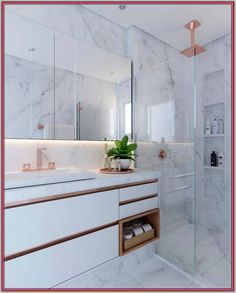 Bathroom decor for your bathroom remodel. Discover master bathroom organization, bathroom decor suggestions, master bathroom tile suggestions, master bathroom paint colors, and more. Contemporary Bathrooms, Modern Bathroom Design, Bathroom Interior Design, Bathroom Designs, Minimal Bathroom, Contemporary Interior, Kitchen Designs, Bad Inspiration, Bathroom Inspiration