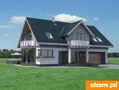 DOM.PL™ - Projekt domu AN LAZURYT CE - DOM AO10-37 - gotowy koszt budowy Aj Styles, Trends, Home Fashion, Living Room Decor, Shed, Outdoor Structures, Cabin, Mansions, House Styles