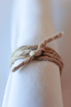 Napkin ring made out of twine for a natural look
