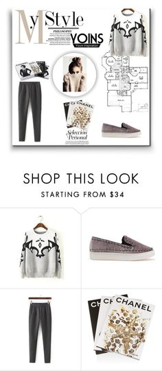 """""""Yoins 30"""" by lugavicamina ❤ liked on Polyvore featuring Assouline Publishing, Chanel and yoins"""