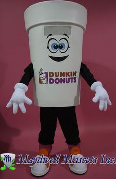 Dunkin' Donuts Hot Coffee Cup Mascot