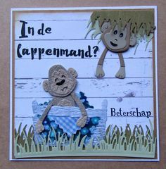 Marianne Design, Kids Cards, Monkey, Projects To Try, Card Making, Baby Shower, Christmas Ornaments, Holiday Decor, Hibiscus