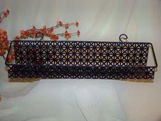 Vintage Mesh Metal Hanging Shelf/Basket