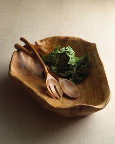 oblong wood bowl