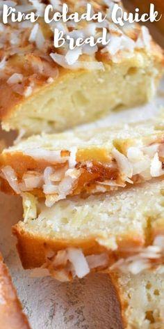 Zucchini Bread Recipes, Quick Bread Recipes, Quick Dessert Recipes, Dessert Bread, Breakfast Dessert, Pina Colada Cookie Recipe, Easy Chocoflan Recipe, Bake Sale Recipes, Best Bread Recipe