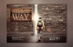 Narrow Way Flyer Poster Template by Godserv Graphics on @Graphicsauthor