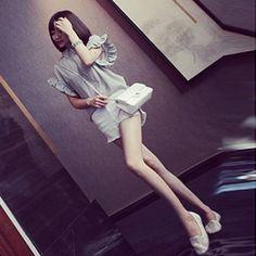 J40977 Korean fashion flouncing sleeve elegant chiffon shirt [J40977] - $7.89 : China,Korean,Japan Fashion clothing wholesale and Dropship online-Be the most beautiful Lady