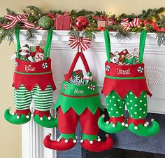 Christmas Stocking Tradition & stocking stuffers - - A really fun tradition for family Christmas stockings, plus over 100 fun and unique ideas for Christmas stocking stuffers. Christmas Sewing, Noel Christmas, Handmade Christmas, Christmas Ornaments, Crochet Christmas, Elf Christmas Decorations, Elf Decorations, Quilted Ornaments, Christmas 2017