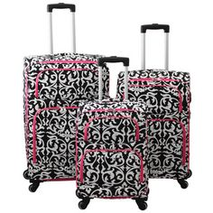 a8f721daab World Traveler Damask 3-piece Expandable Lightweight Spinner Upright Luggage  Set  179.99 Trolley Bags