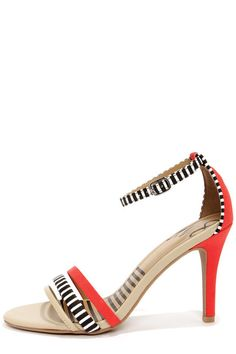 Dolce Vita Suki Candy Apple Striped Single Sole Heels at LuLus.com! - http://pbly.co/EA_a164