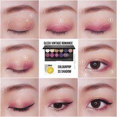 Trendy makeup pink tutorial make up Ideas Korean Natural Makeup, Korean Makeup Look, Korean Makeup Tips, Asian Eye Makeup, Makeup 101, Makeup Trends, Makeup Inspo, Makeup Inspiration, Asian Makeup Tutorials
