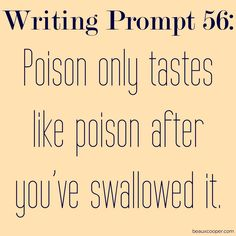 Writing Prompt Fifty-Six