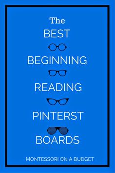 The Montessori on a Budget blog: The Best Beginning Reading Pintetest Boards