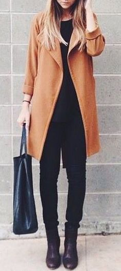 #fall #outfits / camel coat