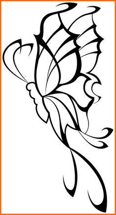 Popular Tattoo Design | tribal butterfly tattoo designs