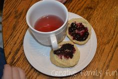 Buttermilk Scones & tea - a fun, learning trip to the United Kingdom without leaving home!