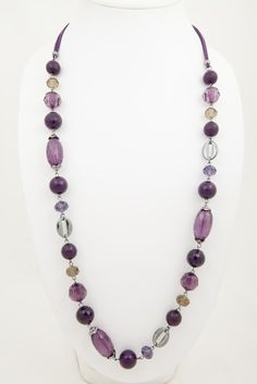 Angel Long Purple Beaded Necklace for just $10 from Australian Store jewelleryoutlet.com.au