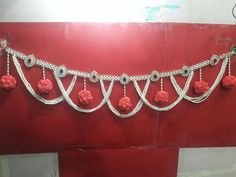 Christmas Door Decore Using Newspaper