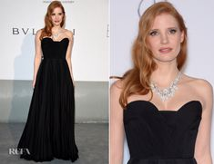 #CannesFilmFestival Jessica Chastain In Givenchy Couture - amfAR Cinema Against Aids Gala
