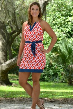 Homegrown Honey Ole Miss Navy Red Game Day Dress- Shop Simply Me –boutique – www.SHOPSIMPLYME.com - #ishopsimplyme – Naples, FL