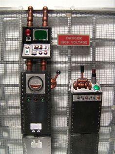 1:12 / Dollhouse Scale Industrial Machine Controls 4 your Lab / Dungeon Diorama   eBay