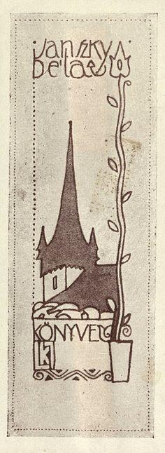 Ex libris by Lajos Kozma (1884-1948) - 1909