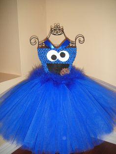Cookie Monster Tutu Dress. $37.99 USD, via Etsy.