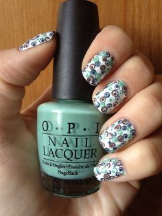 The Lacquerologist: Simple Dots layered over each other. #nails    6 Month Blogiversary Nail Art Contest Entries! [PHOTO HEAVY!]