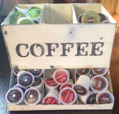 KCup Holder Coffee Storage Vintage Metal Bin Kitchen by BugJunkie