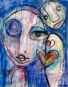 "For Sale: I am Truth by Laurie Maves  | $100 | 16""w 20""h | Original Art | https://www.vangoart.co/lauriemavesart/i-am-truth @VangoArt"