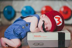 #2 Baby Mario  22+ Geeky Newborns Who Are Following In Their Parents' Nerdy Footsteps