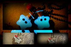 Mario Glowing Star Aqua Blue glow in the dark by FairyGlowLantern, $22.50