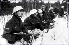 Men of the 2nd Fallschirmjager Division, in the vicinity of Leningrad.  Soviet Union, 1943.   ~ Vengeance_Lord