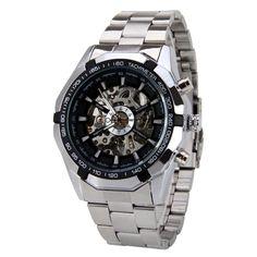 Silver Luminous Skeleton Watch