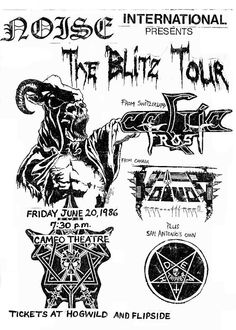 I saw this gig in Dallas. Damn, would have loved to see S.A's Death Tripper open. Celtic Frost, Day Of Death, Music Flyer, Metal Albums, Band Logos, Thrash Metal, Album Design, Band Posters, Poster