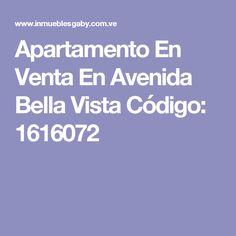 Apartamento En Venta En Avenida Bella Vista Código: 1616072