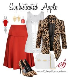 For more fashion tips, sign up here: http://eepurl.com/4jcGX For the apple shape, here are some general guidelines. *wear soft fabrics *avoid bulk or fuss in the bust and waist area *details above the bust line and below the hip line. (For specifics, please check out the Style Academy: http://www.colleenhammond.com/product/style-academy/)