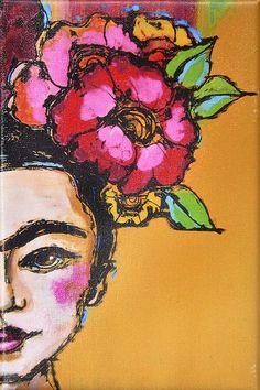 Frida Kahlo, emblem of Mexican art - Stenciling Painting Inspiration, Art Inspo, Art Du Monde, Frida Art, American Indian Art, Mexican Folk Art, Art Drawings, Art Projects, Art Photography