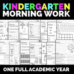 Kindergarten Morning Work!  Great for getting the morning started right.  Aligns with common core math and reading standards.