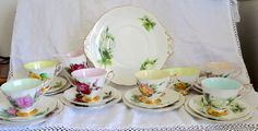 Vintage China Tea Set  Harry Wheatcroft World by PrettyVintageHome