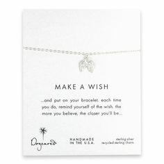 make a wish angel wings bracelet, sterling silver - Dogeared
