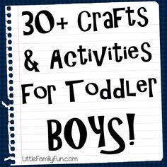 Mała Family Fun: Rzemiosła i zajęcia dla CHŁOPCÓW!